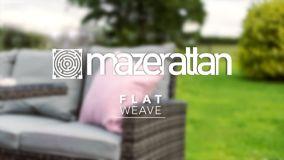 Maze Rattan - Half Moon Sofa Set - Brown