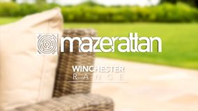 Maze Rattan - Winchester - Heritage 8 Seat Oval Dining Set - With Ice Bucket & Lazy Susan