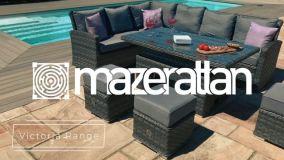 Maze Rattan - Victoria Square Corner Dining - With Rising Table