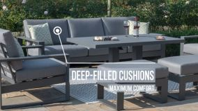 Maze - Amalfi Chaise Sofa Set - Grey