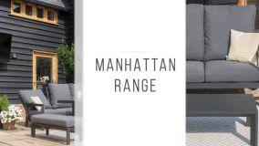 Maze - Manhattan Reclining Corner Dining Set - With Firepit Table