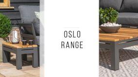 Maze - Oslo Teak Top U Shaped Side Table - Grey