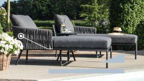 Maze - Marina 2 Seat Rope Weave Sofa Set - Grey