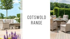 Maze Rattan - Cotswold Reclining 6 Seat Round Dining Set - With Rattan Lazy Susan