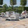 Maze - Amalfi 2 Seat Sofa Set with Square Fire Pit Table - White