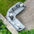 Maze Lounge - Outdoor Fabric Ambition Corner Group - With Rising Table - Flanelle