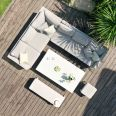 Maze - Outdoor Fabric Pulse Rectangular Corner Dining Set - With Rising Table - Lead Chine