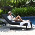 Maze Lounge - Outdoor Fabric Allure Lounger - Charcoal