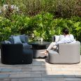 Maze Lounge - Outdoor Fabric Snug with Rising Table - Flanelle & Charcoal