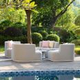 Maze Lounge - Outdoor Fabric Snug with Rising Table - Lead Chine