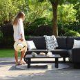 Maze Lounge - Outdoor Fabric Ethos Corner Group - Charcoal