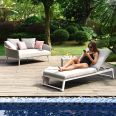 Maze Lounge - Outdoor Fabric Allure Lounger - Lead Chine