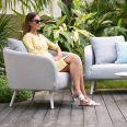 Maze Lounge - Outdoor Fabric Ambition 3 Seat Sofa Set - Lead Chine