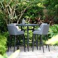 Maze Lounge - Outdoor Fabric Regal 4 Seat Round Bar Set - Flanelle