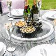 Maze Rattan - LA 8 Seat Round Dining Set - With Ice Bucket - Grey