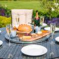 Maze Rattan - LA 8 Seat Round Dining Set - With Ice Bucket - Brown