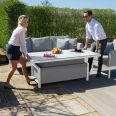 Maze Lounge - Outdoor Fabric Pulse 3 Seat Sofa Set with Rising Table -  Lead Chine