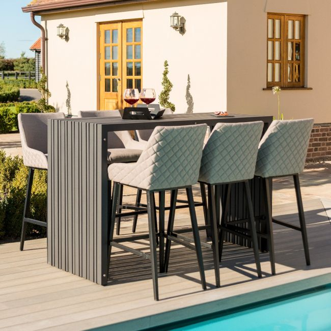 Maze Lounge - Outdoor Fabric Regal 6 Seat Rectangular Bar Set