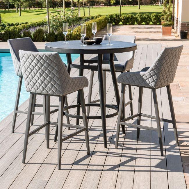 Maze Lounge - Outdoor Fabric Regal 4 Seat Round Bar Set
