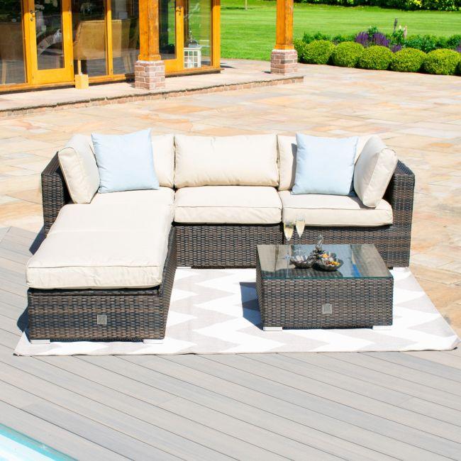 Maze Rattan - Rio Corner Sofa Set