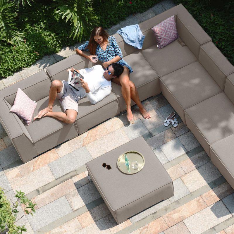 Maze Lounge - Outdoor Fabric Large Apollo Corner Sofa Group - Taupe