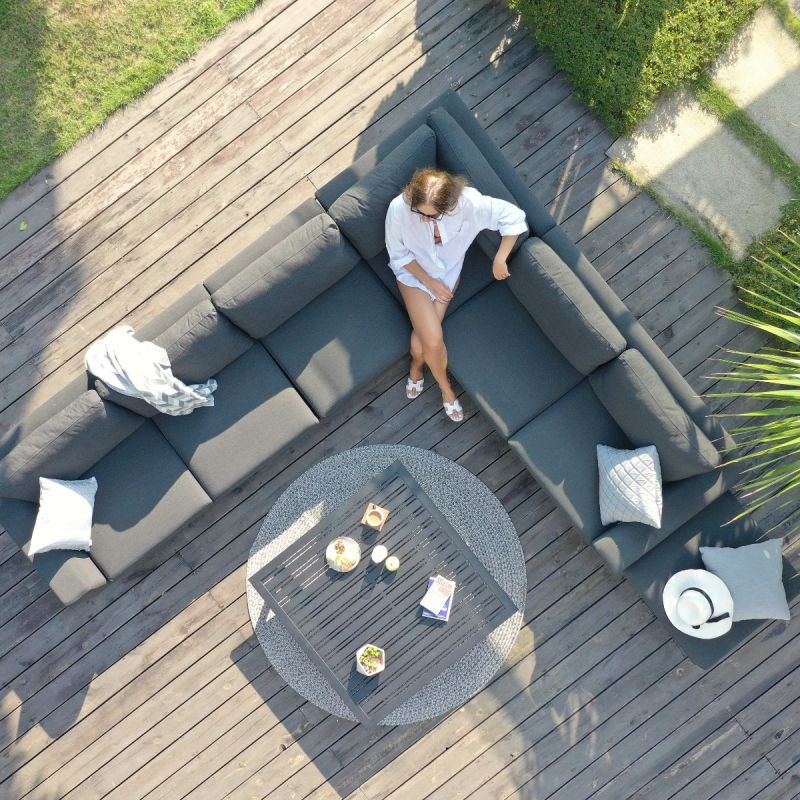 Maze Lounge - Outdoor Fabric Ethos Large Corner Group - Flanelle Grey