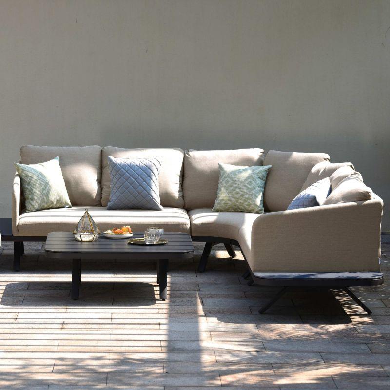 Maze Lounge - Outdoor Fabric Cove Corner Sofa Group - Taupe
