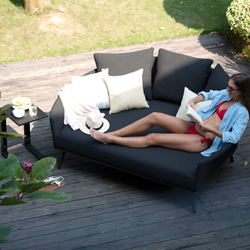 Maze Lounge - Outdoor Fabric Ark Daybed - Charcoal