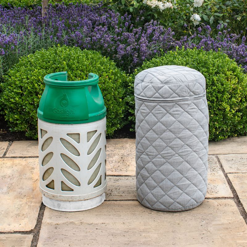 Maze Lounge - Outdoor Fabric 10KG Gas Bottle Cover - Lead Chine