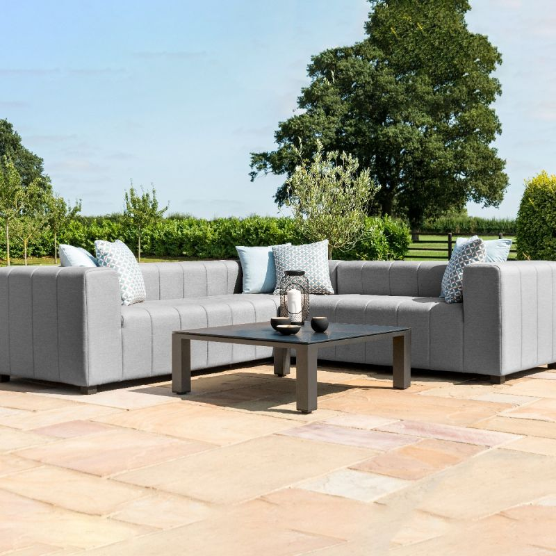 Maze Lounge - Outdoor Fabric Nexus Corner Sofa Group - Flanelle