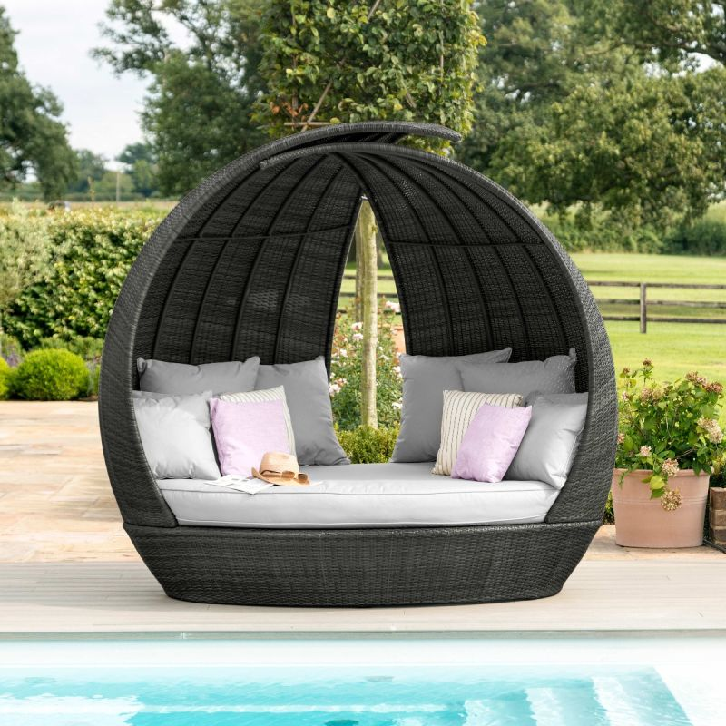 Maze Rattan - Lotus Daybed - Grey