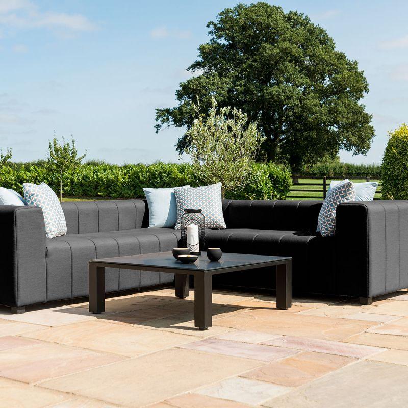 Maze Lounge - Outdoor Fabric Nexus Corner Sofa Group - Charcoal