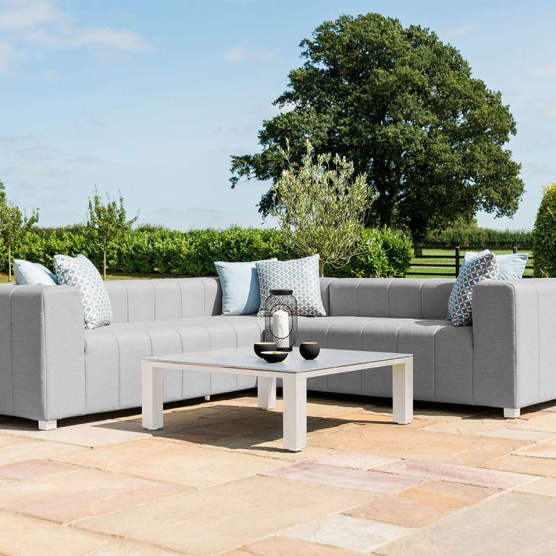 Maze Lounge - Outdoor Fabric Nexus Corner Sofa Group - Lead Chine