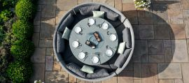 Maze Rattan - Ascot Round Sofa Dining Set - With Rising Table & Weatherproof Cushions