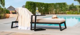 Maze Lounge - Outdoor Fabric Allure Sunlounger - Taupe