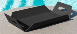 Maze Lounge - Outdoor Fabric Aluminium Table Tray - Black