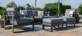 Maze - Amalfi 2 Seat Sofa Set with Rising Table - Grey