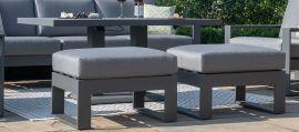 Maze - Amalfi 3 Seat Sofa Set with Rising Table - Grey