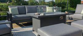 Maze - Amalfi 3 Seat Sofa Set with Firepit Table - Grey