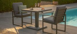 Maze - Amalfi 3 Piece Bistro Set - With Rising Table - Grey