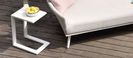 Maze Lounge - Outdoor Fabric Aluminium Side Table - White
