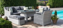 Maze Rattan - Ascot 3 Seat Sofa Dining Set - With Rising Table & Weatherproof Cushions