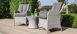 Maze Rattan - Ascot Bistro Set - With Weatherproof Cushions