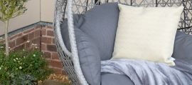 Maze Rattan - Ascot Swing Hanging Double Chair - With Weatherproof Cushions