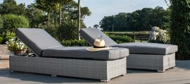 Maze Rattan - Ascot Sun Lounger Set - With Weatherproof Cushions