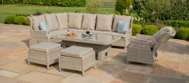Maze Rattan - Cotswold Reclining Corner Dining Set - With Rising Table & Chair