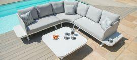 Maze Lounge - Outdoor Fabric Cove Corner Sofa Group - Lead Chine