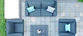 Maze Lounge - Outdoor Fabric Ethos 2 Seat Sofa Set - Charcoal