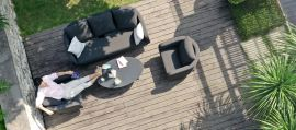 Maze Lounge - Outdoor Fabric Ambition 3 Seat Sofa Set - Charcoal