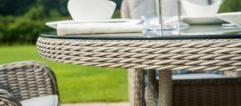 Maze Rattan - Oxford - Heritage 4 Seat Round Dining Set